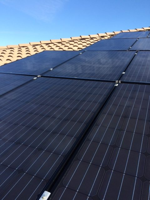 After Solar Panel Cleaning